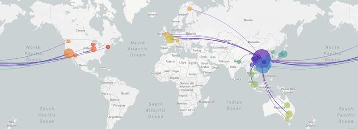 Yeni koronavirüsün aile ağacındaki yeri deşifre edilerek yayılım haritası oluşturuldu