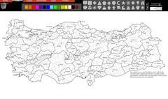 Harita Renklendirme Programi