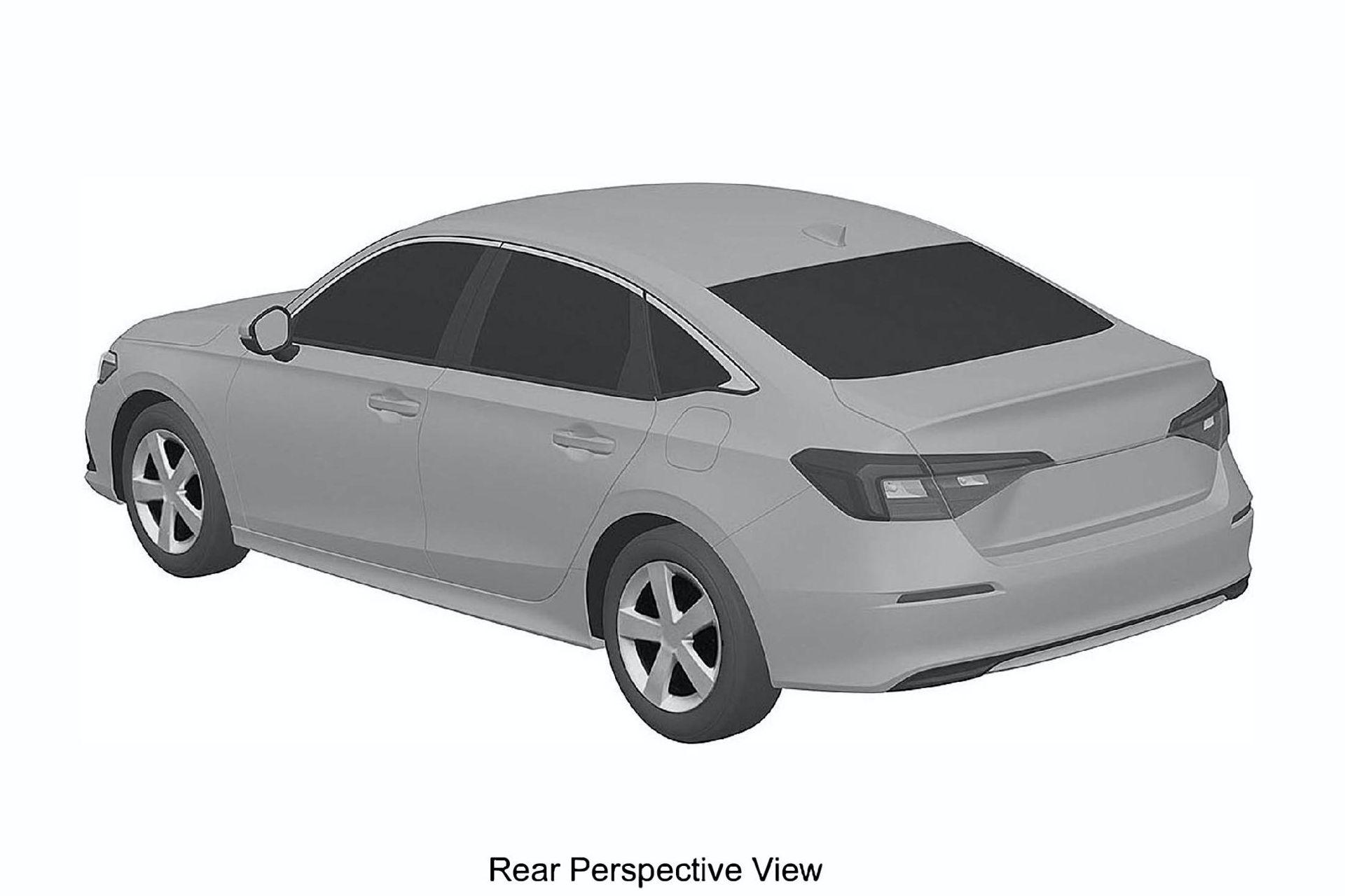 2022 Honda Civic Sedan ve Hatchback'in tasarımı patent görüntüleriyle ortaya çıktı