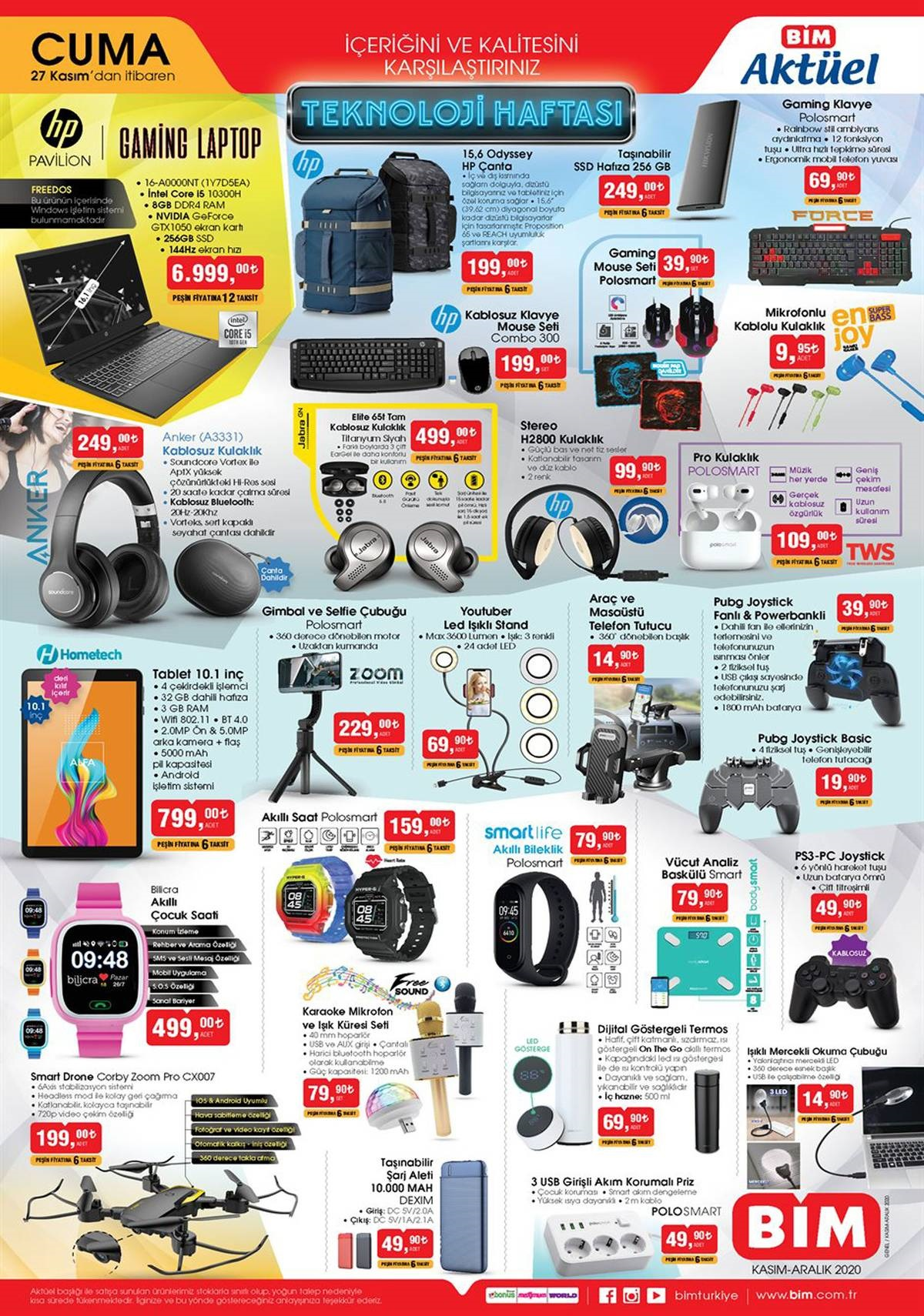26 Kasım A101 ve 27 Kasım BİM aktüel ürünler