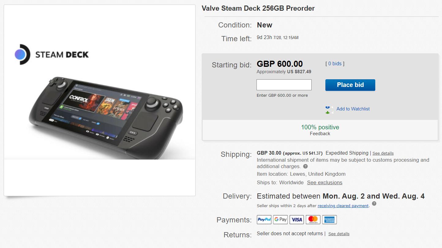 Steam Deck, PS5 ile aynı kaderi paylaştı: eBay'de fiyatlar 3-4 katına çıktı
