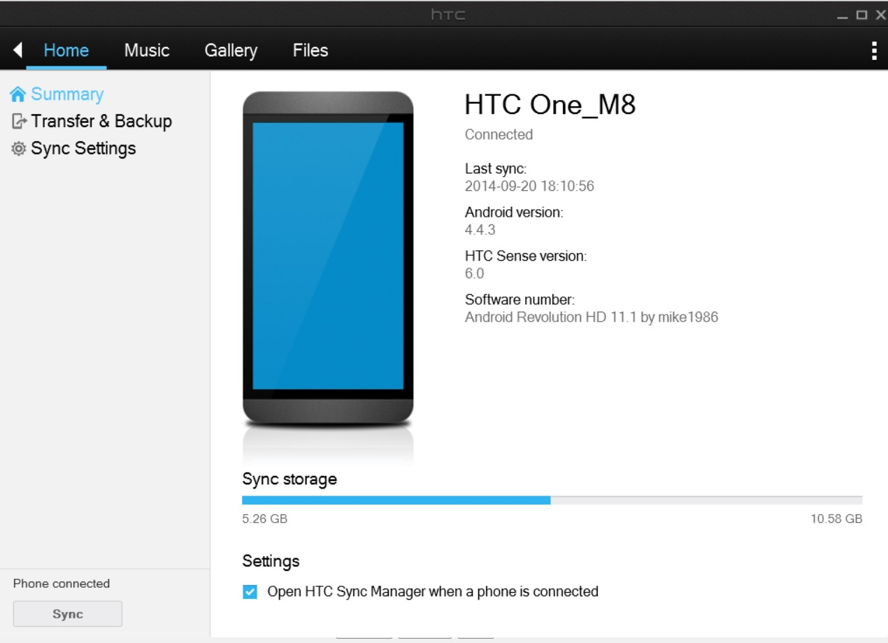 HTC Sync Manager problem! Phone is not connected
